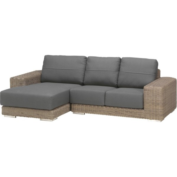 4 Seasons Kingston Modular Chaise-Longue Rt w/2 Cush. - Pure