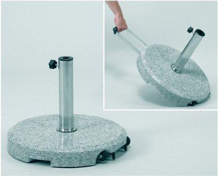 Jofix ø40Kg Base w/ handle & weels - Granite