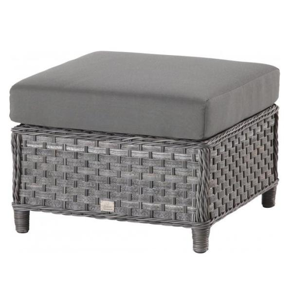 4 Seasons Lodge Footstool w/ cushion - Duet Charcoal