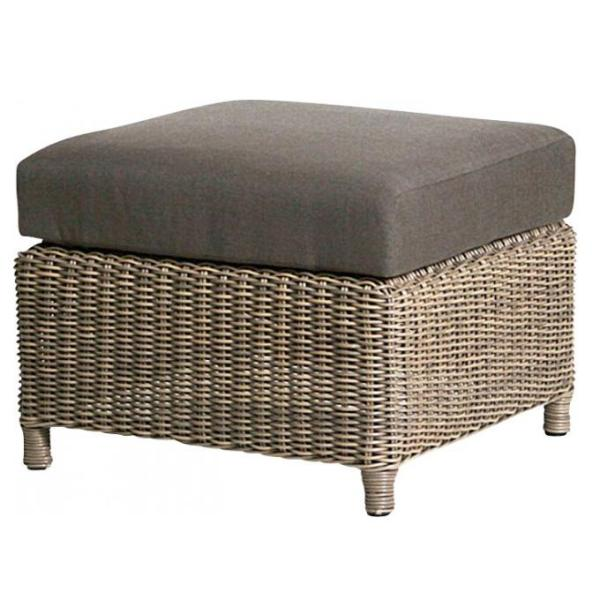 4 Seasons Lodge Footstool w/Cushion - Pure