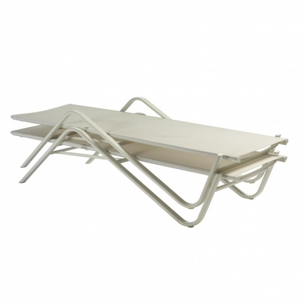 Emu Holly Stackable Sunbed- White