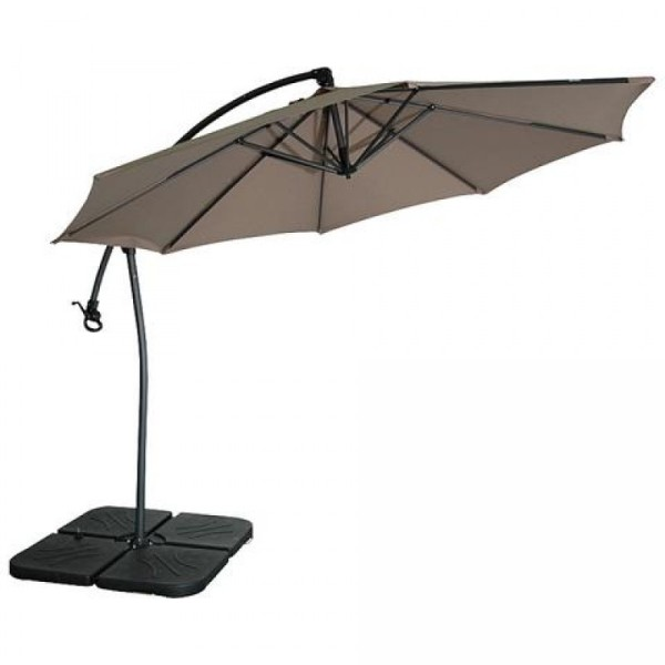 Parasol taupe cheap the levante parasols are bambrellaus for Parasol rectangulaire inclinable castorama