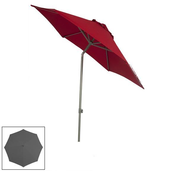 Zangenberg Solvida Push Parasol 270 - Grey