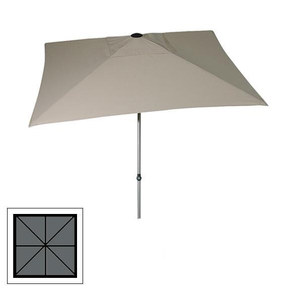 Zangenberg Solvida Push Parasol 2,10x2,10m- Light Grey