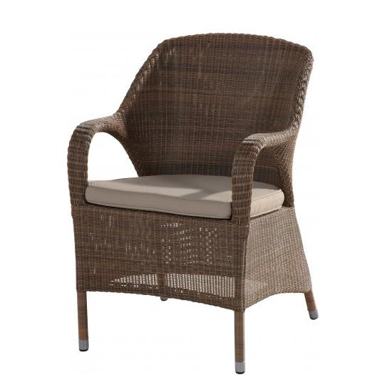 4 Seasons Sussex Dining chair Chair w/ cushion - Poly. Taupe