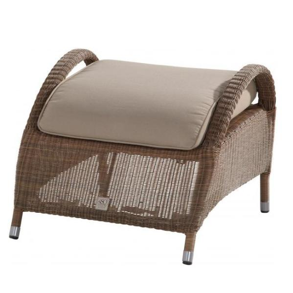 4 Seasons Sussex Footstool w/ cushion - Poly. Taupe