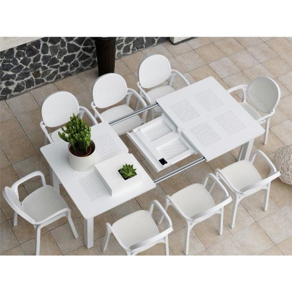 Jofix Libeccio Table Ext. 160-220x100 White