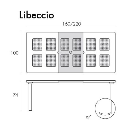 Jofix Libeccio Table Ext. 160-220x100 Tortora