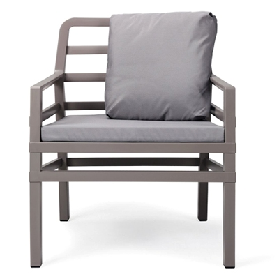 Jofix Aria Tortora Arm Chair w/ grey cusion