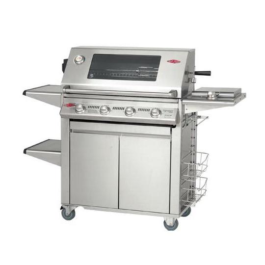 Beefeater S3000S 4B BBQ & Hood + Cabinet Trolley & Side Burn