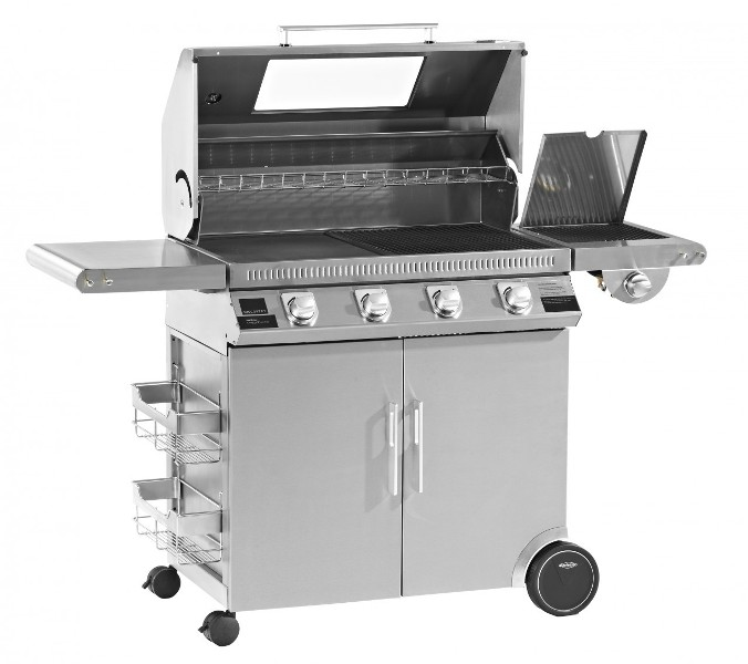 Beefeater 1100S Premium 4B BBQ & Hood+Cabinet Trolley & S.Br