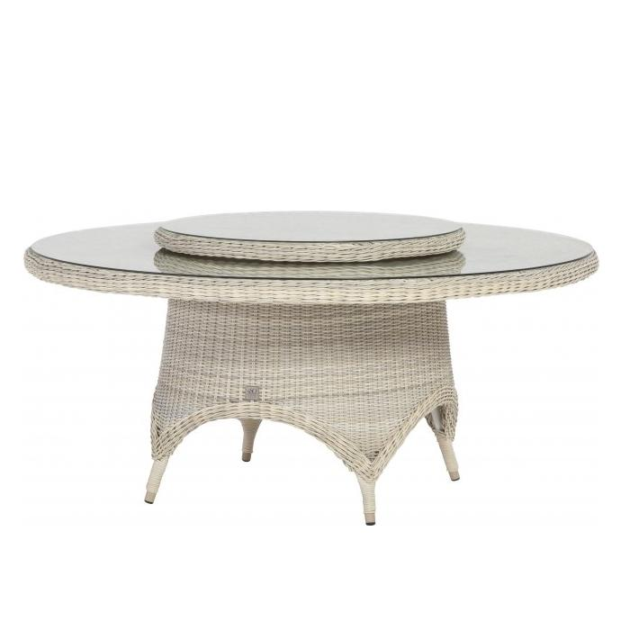 4 Seasons Victoria Table  130cm Round  w/ Glass - Provance
