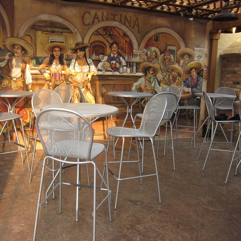 Emu RONDA Cadeira de Bar c/braços - Ferro Antigo