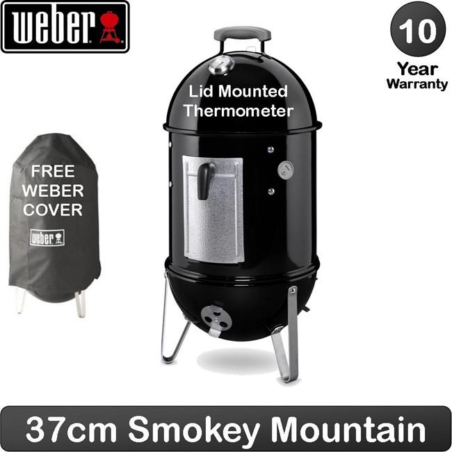 Weber Smokey Moumtain ø37cm - Preto