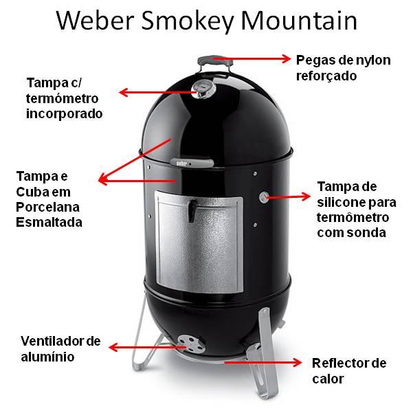 Weber Smokey Moumtain ø47cm - Preto