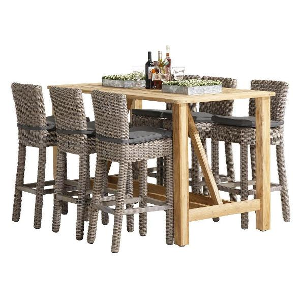4 Seasons Casa Bar Table Recycled Teak 180x92