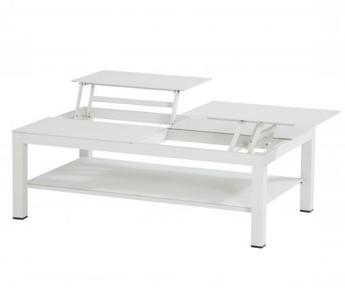 Taste Vallarta Coffee Table w/elevating Top - White