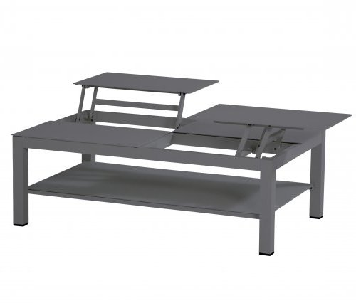 Taste Vallarta Coffee Table w/elevating Top - Carbon