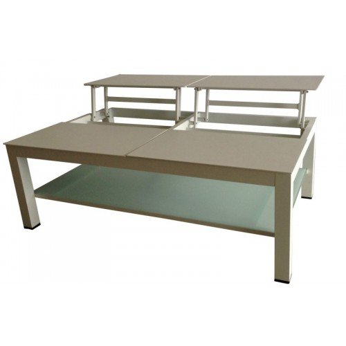 Taste Vallarta Coffee Table w/elevating Top - Taupe