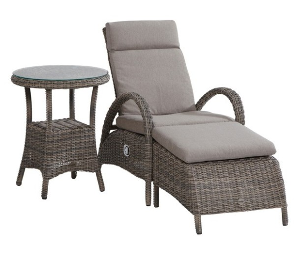 Taste Rimini Relax Chair w/ Footstool - Roca