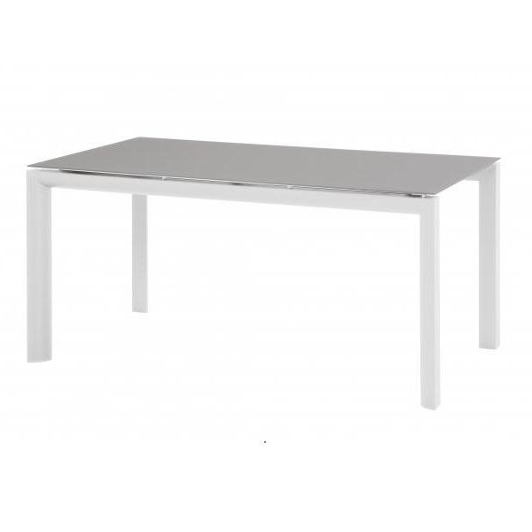 Taste Calvin Table 160x95 w/grey glass - White