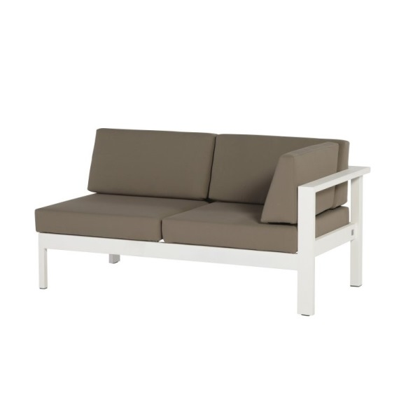 4 Seasons Cosmo Modular Left Arm w/5 cushions - White