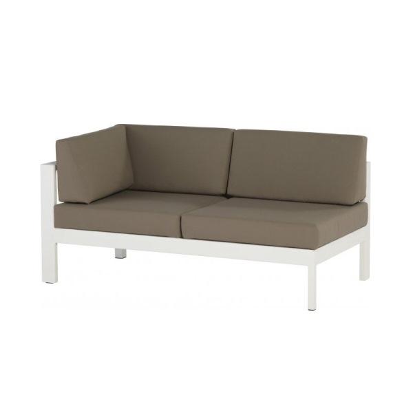 4 Seasons Cosmo Modular Right Arm w/5 cushions - White