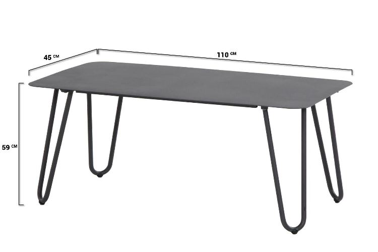 4 Seasons Cool Coffee Table 110x59x45cm - Anthracite