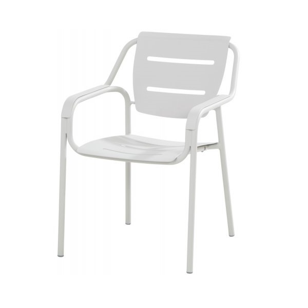 4 Seasons Eco Stacking Dining Chair Aluminium - Seashell