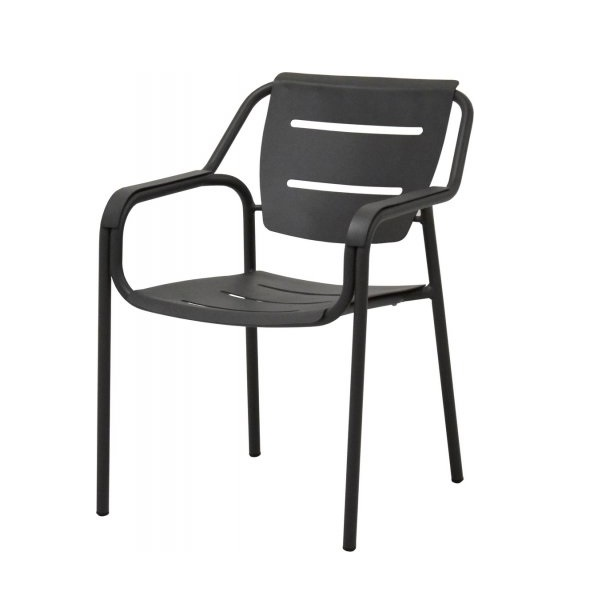 4 Seasons Eco Stacking Dining Chair Aluminium - Anthracite