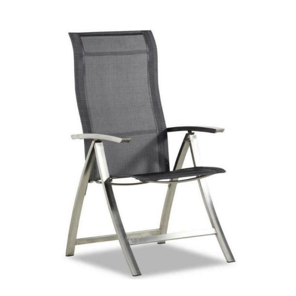 4 Seasons Slimm Adjustable chair stainless Steel - Graphite