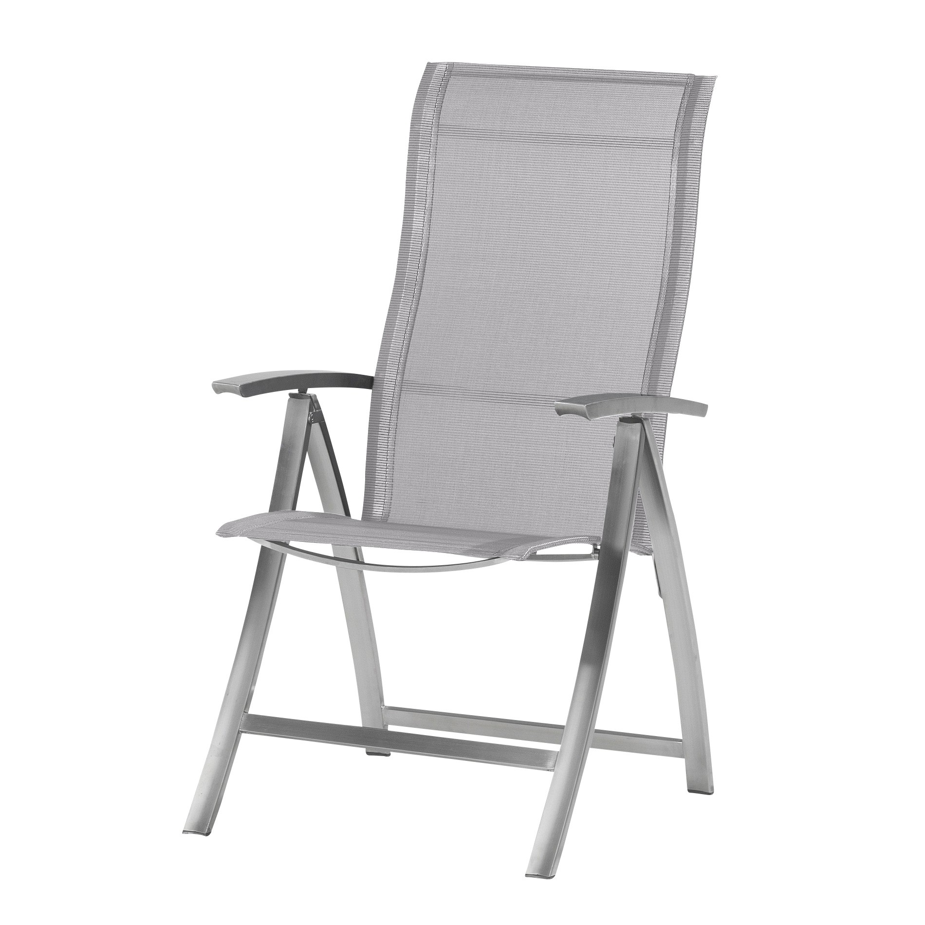 4 Seasons Slimm Adjustable chair stainless Steel - Ashgrey