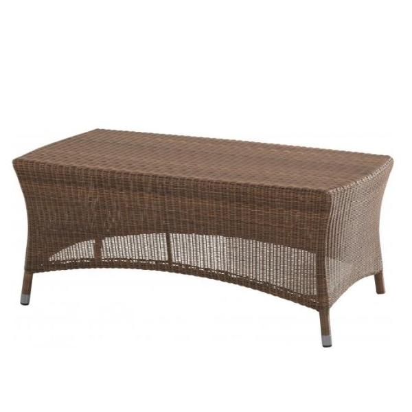 4 Seasons Sussex Coffee Table 110x60 w/ Glass - Poly. Taupe