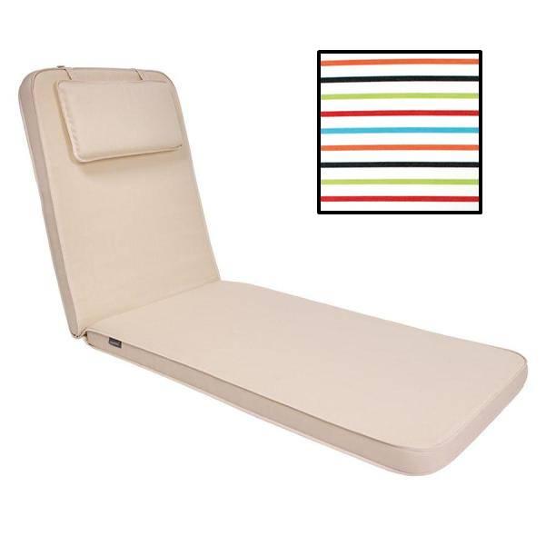 Ezpeleta Sunbed Cushion - White striped