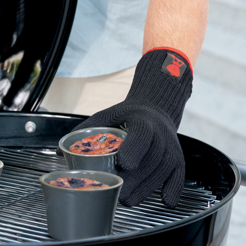 Weber Black Glove with Silicone