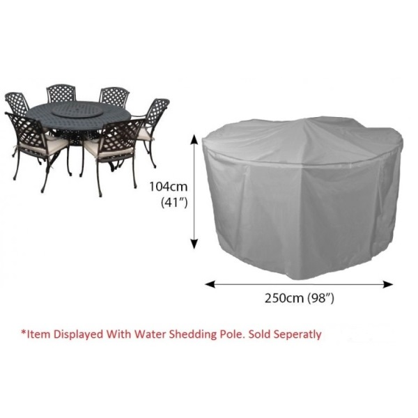 Bosmere Circular Cover 6-8 seater Patio Set 250ø - Grey