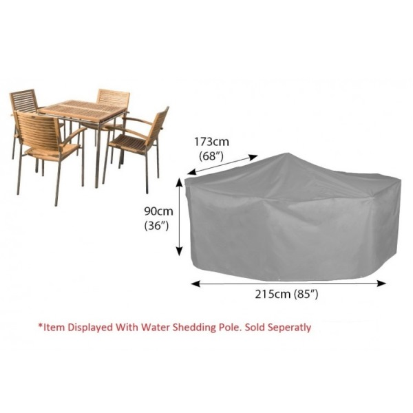 Bosmere Cover 4 seat Patio Set (215wx90Hx173D) - Grey