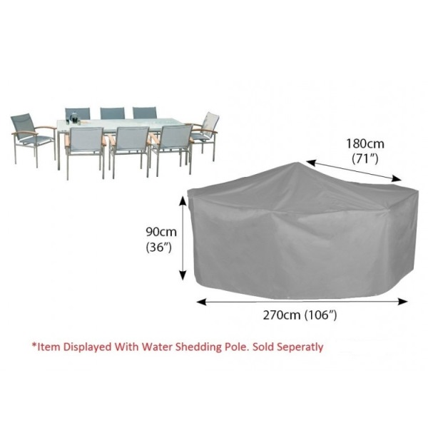 Bosmere Cover 6 seat Patio Set (270Wx90Hx180D) - Grey