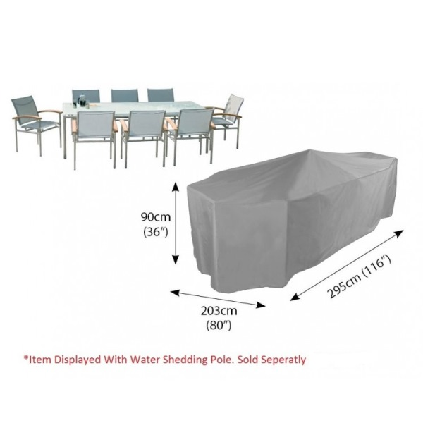 Bosmere Cover 8 seat Patio Set (295Wx90Hx203D) - Grey