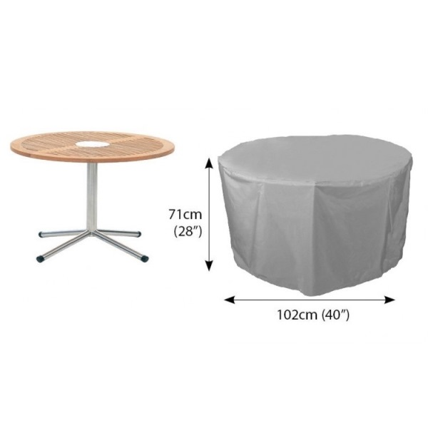 Bosmere Circular Cover 4 seater Patio Set 102øx71H - Grey