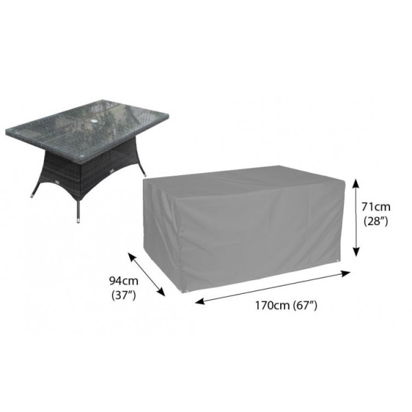 Bosmere Cover 6 seat Patio Set (170Wx71Hx94D) - Grey