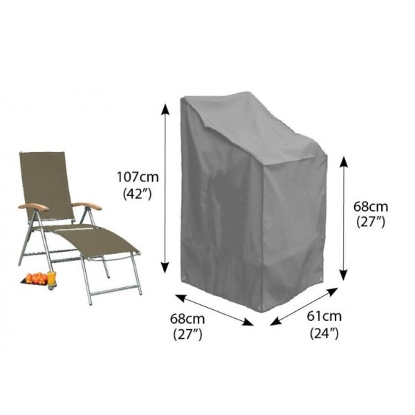 Bosmere Cover Stacking/Reclining Chair - Grey