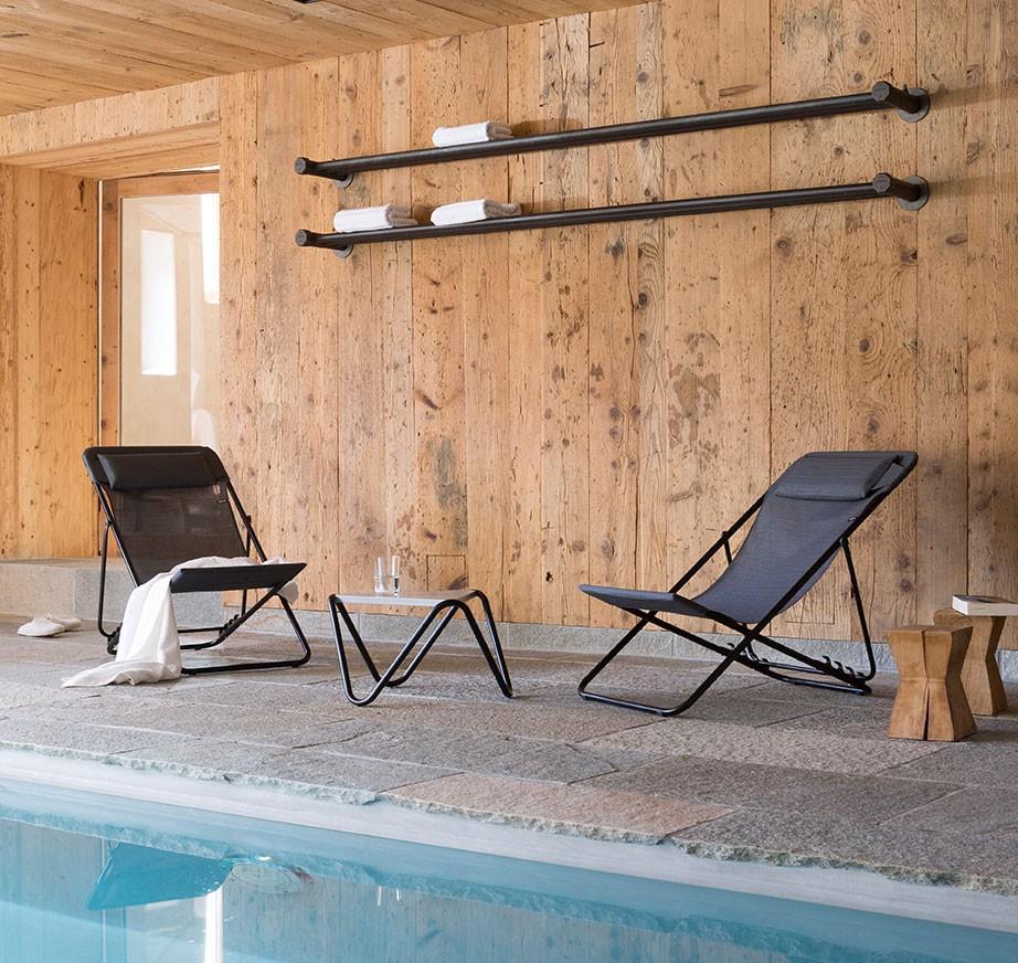Lafuma Transluxe XL low Folding Chair - Obsidian