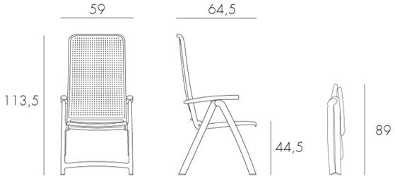 Jofix Darsena Cadeira Relaxer - Tortora
