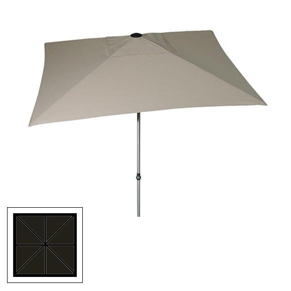 Zangenberg Solvida Push Parasol 2,10x2,10m - Grey