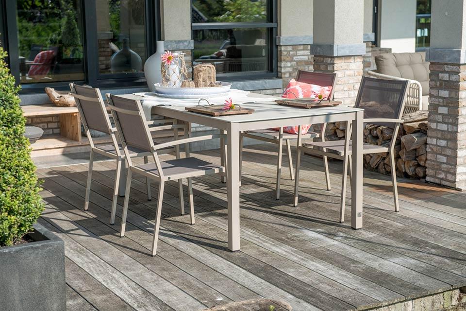 4 Seasons Rivoli Slimtop Table 220x95 - Taupe