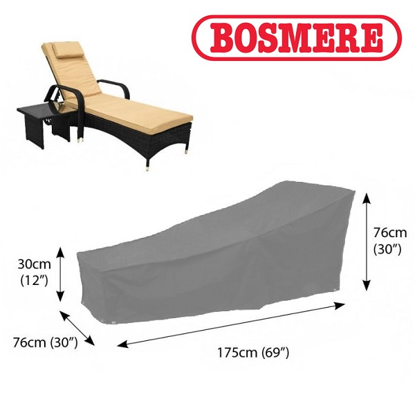Bosmere Sunlounger Cover (175wx76D) - Grey