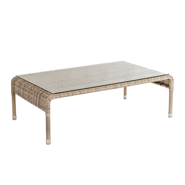 AL.Rose Ocean Coffee Table w/glass - Pearl