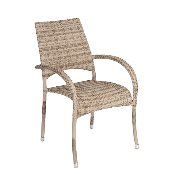 AL.Rose Ocean Fiji Stacking Armchair- Pearl