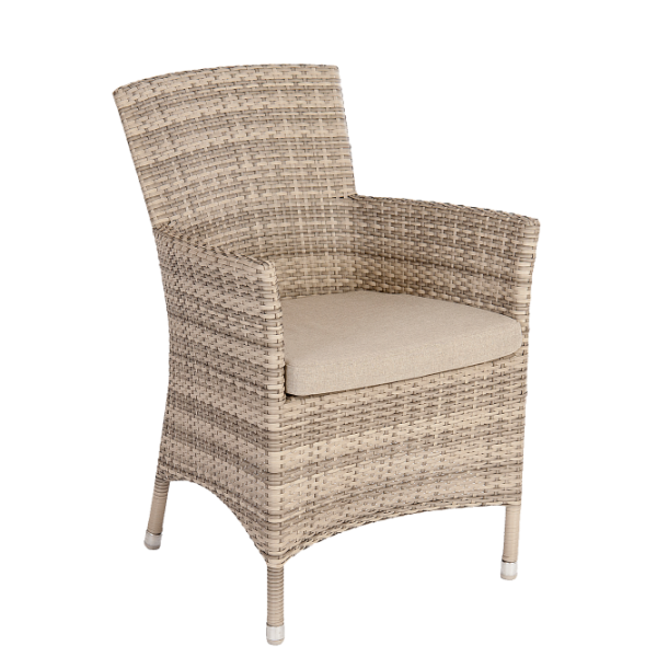 AL.Rose Ocean Wave Armchair w/cushion - Pearl